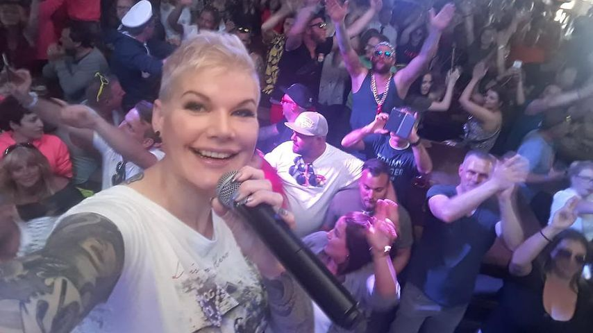 Melanie Müller im Mai 2019 im Bierkönig auf Mallorca