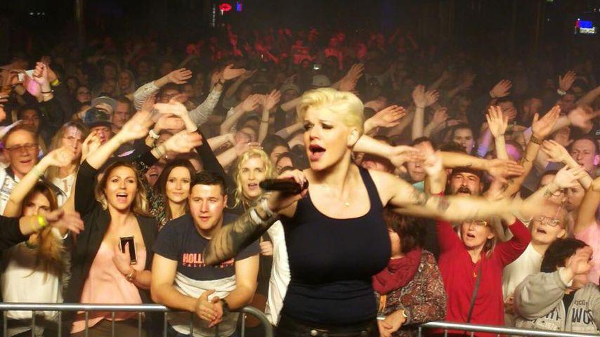 Melanie Müller bei einem Auftritt in Leipzig