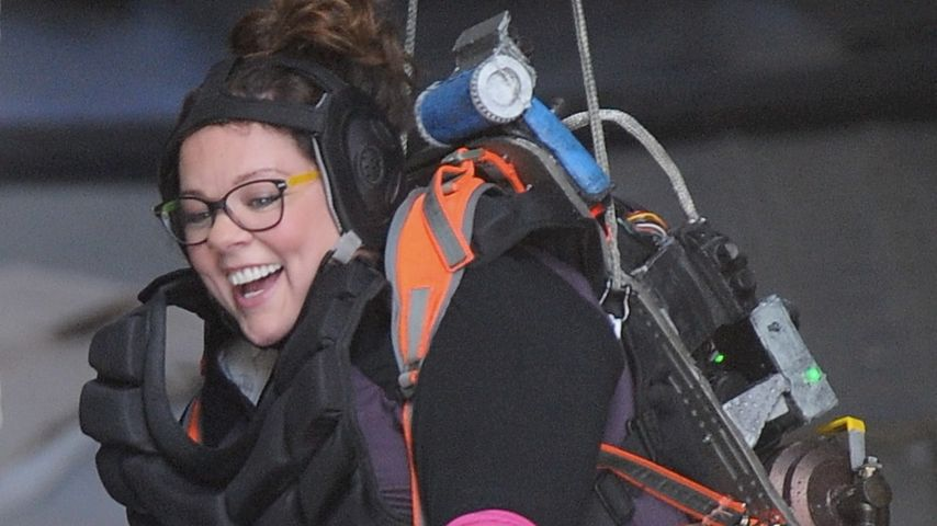 "Krass! Melissa McCarthy gibt alles am ""Ghostbusters""-Set"
