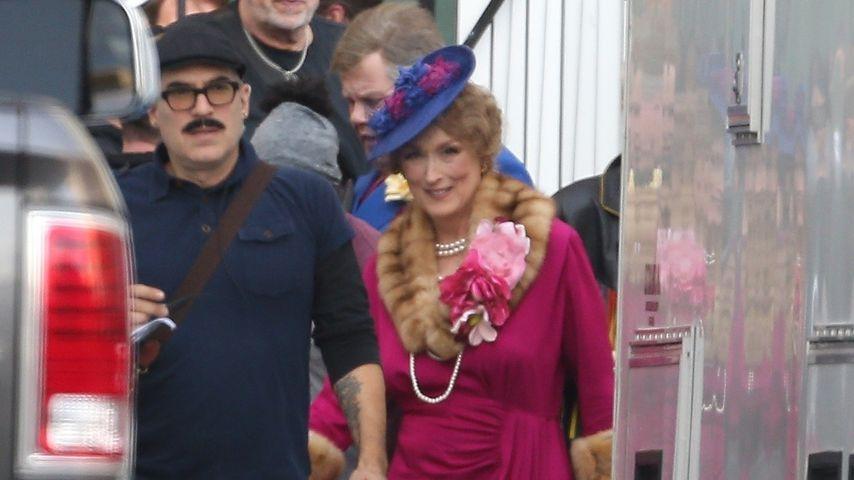 "Meryl Streep bei den Dreharbeiten zu ""The Prom"""