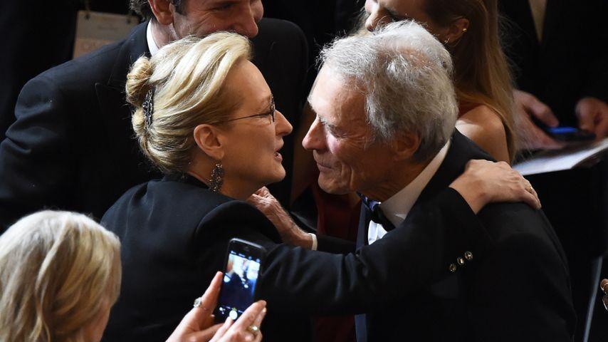 Meryl Streep und Clint Eastwood bei den Oscars 2015