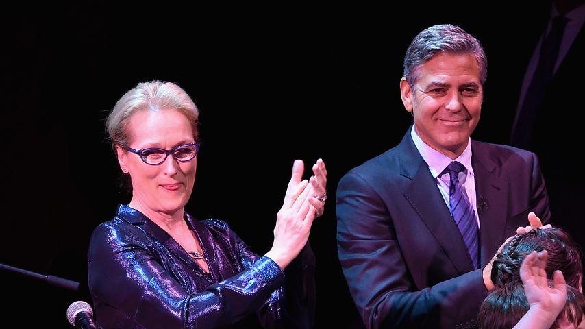Meryl Streep und George Clooney bei der SeriousFun Children's Network's New York City Gala