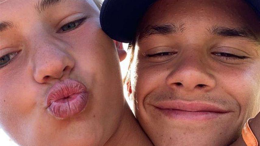 Mia Regan und Romeo Beckham, Februar 2021