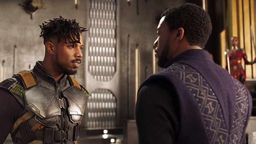 "Michael B. Jordan und Chadwick Boseman in ""Black Panther"""