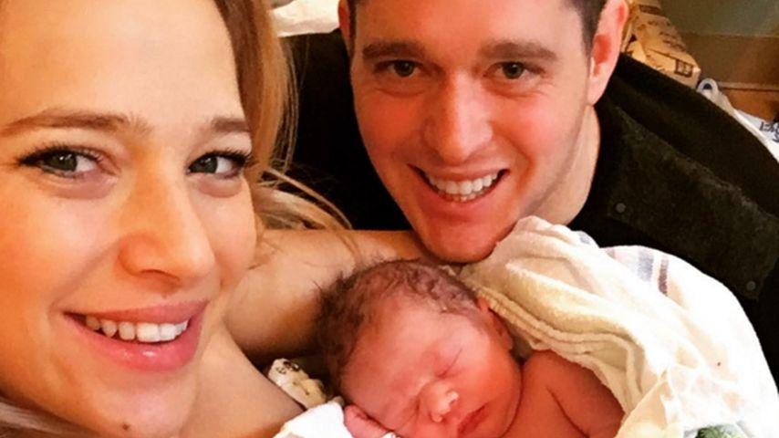 Mit Baby Elias ab jetzt zu viert: Michael Bublé wieder Vater