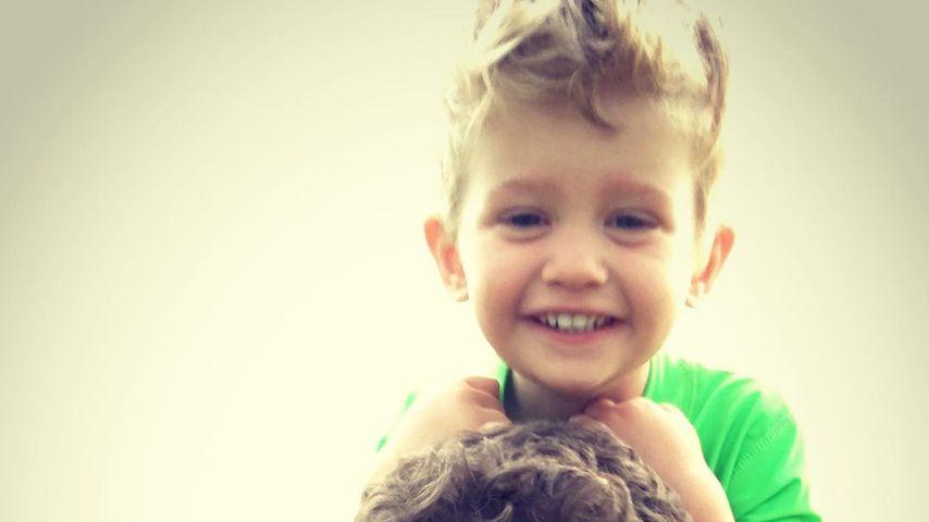 Michael Bublé mit seinem Sohn Noah, März 2016