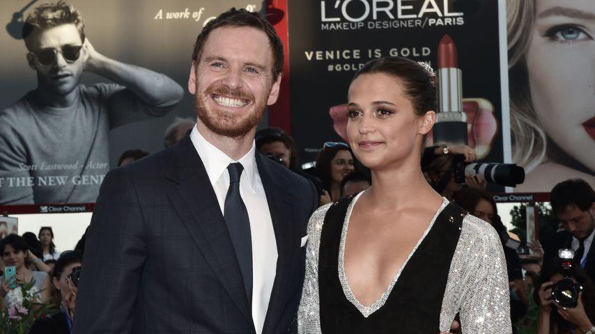 """Michael Fassbender und Alicia Vikander bei der Premiere von """"Liebe zwischen den Meeren"""""""