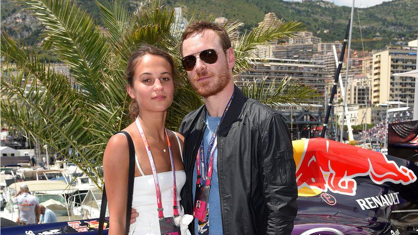 Michael Fassbender und seine Frau Alicia Vikander 2015 in Monte Carlo