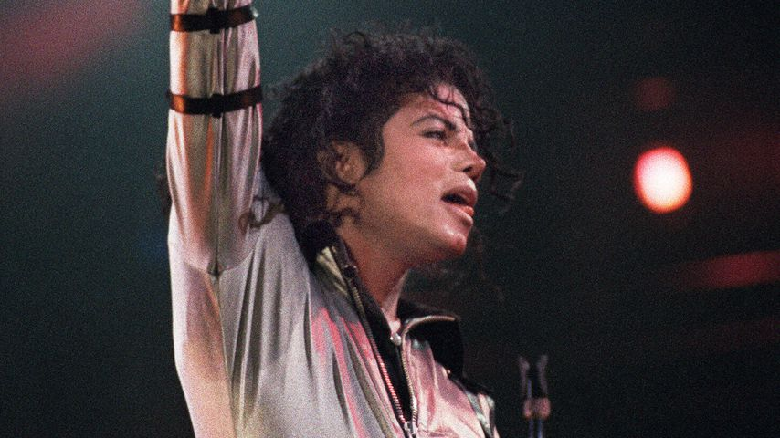 Michael Jackson bei einem Konzert in Montpellier 1988