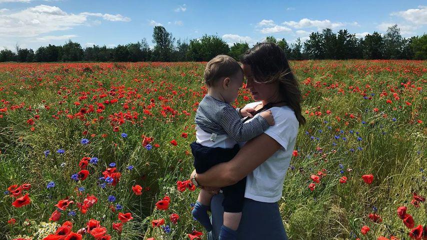 Michael Schultes Frau und Kind