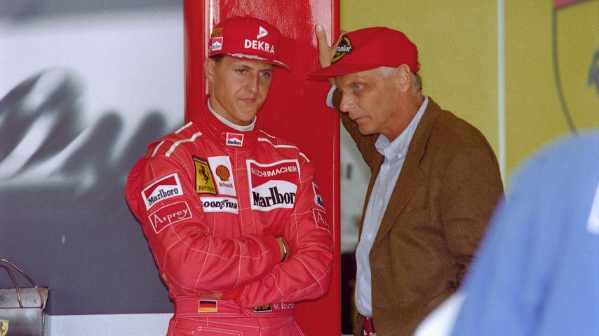 Michael Schumacher und Niki Lauda, 1996