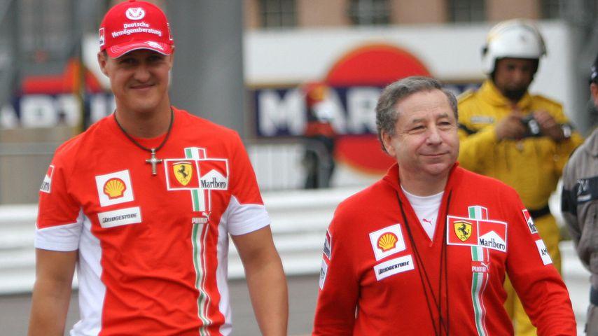 Formel 1-Star Michael Schumacher und Ex-Ferrari-Boss Jean Todt, Monte Carlo 2007