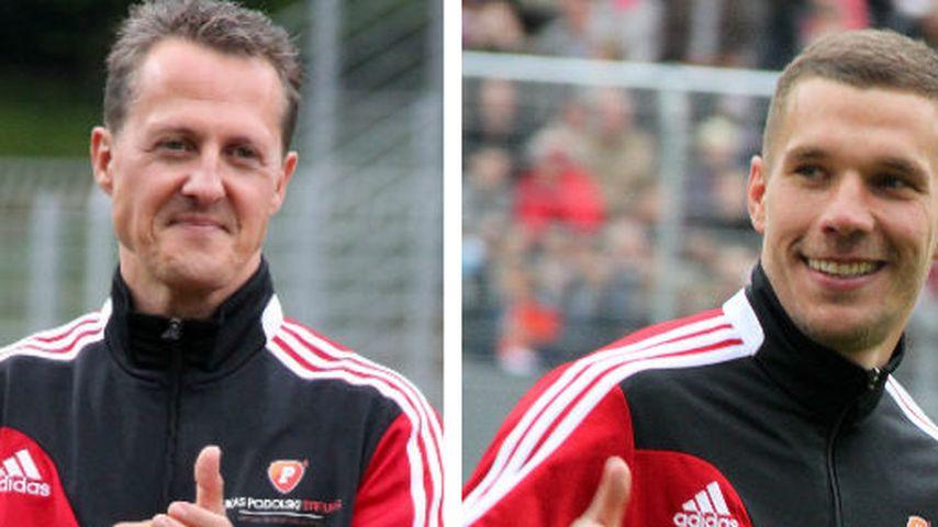 Rührend: Poldi spricht Schumi nach Heimkehr Mut zu