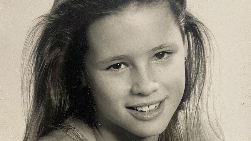 Michelle Hunziker als Neunjährige