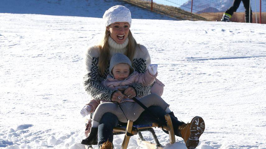 Sportlich! Michelle Hunziker & ihre Kids erobern die Piste