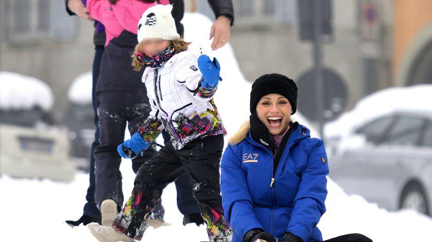 Michelle Hunziker mit ihrer Familie, Dezember 2020
