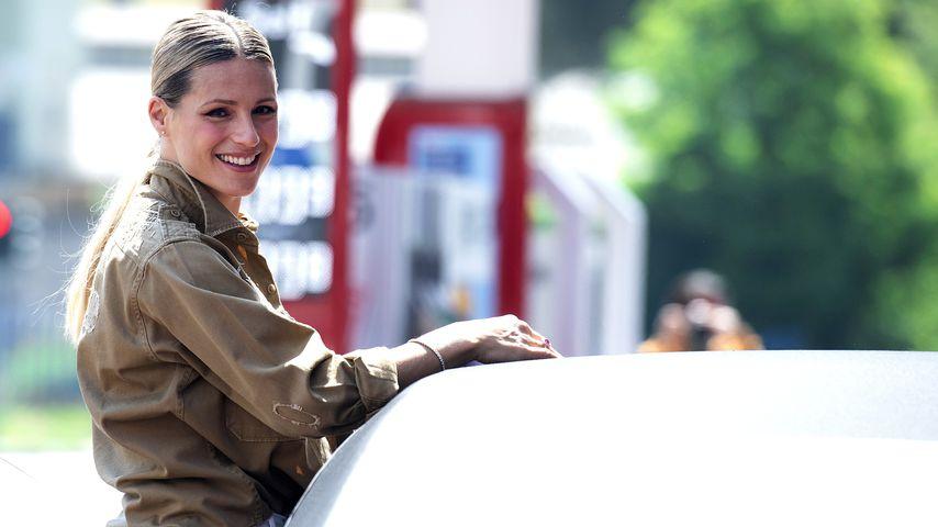 Michelle Hunziker im Mai 2020 in Bergamo