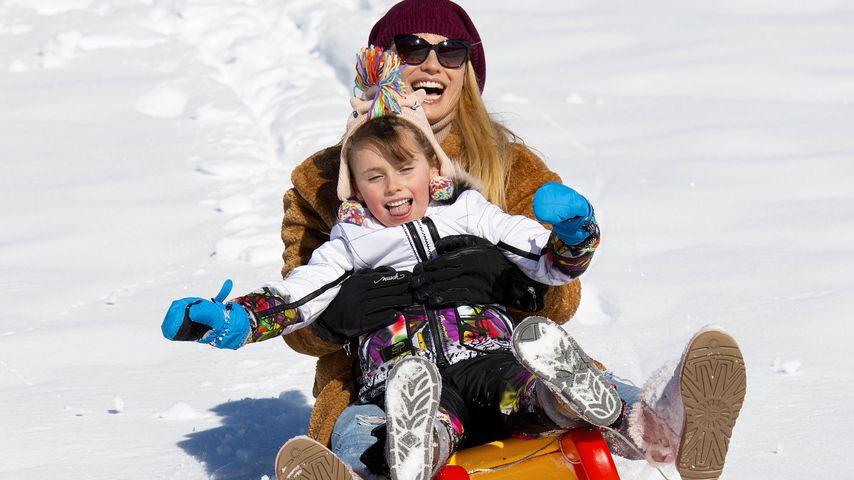 Michelle Hunziker und Tochter Sole, Dezember 2019