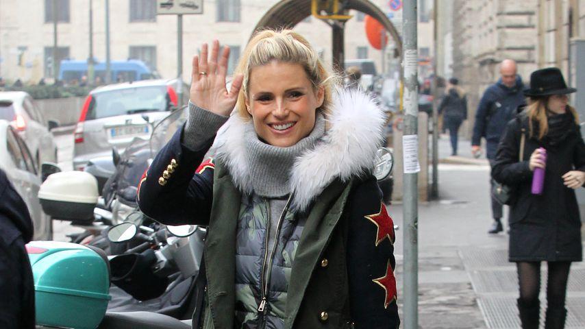 Michelle Hunziker in Mailand
