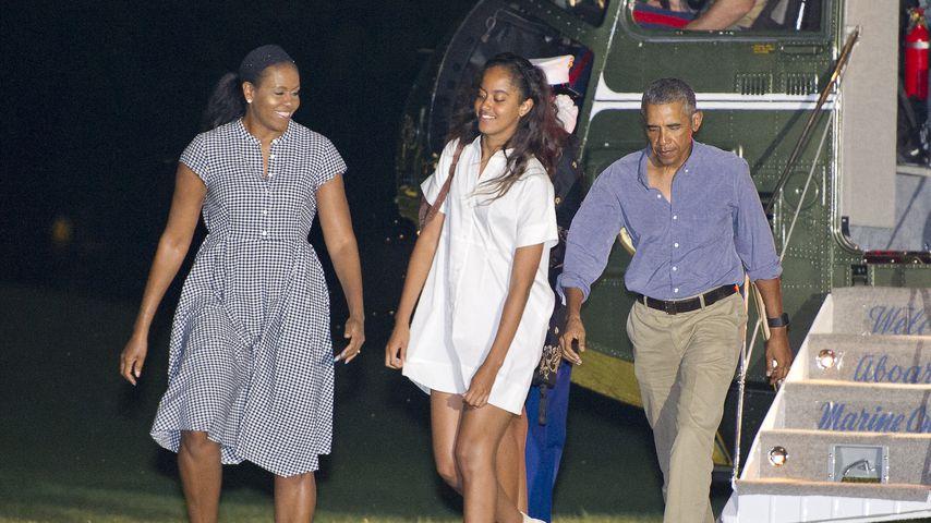 Michelle, Malia und Barack Obama