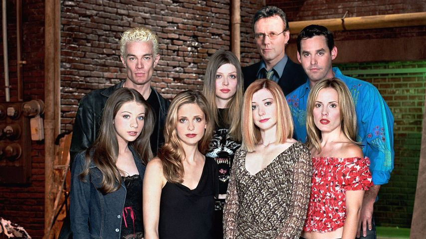 Sarah Michelle Gellar, James Marsters, Emma Caulfield und Michelle Trachtenberg