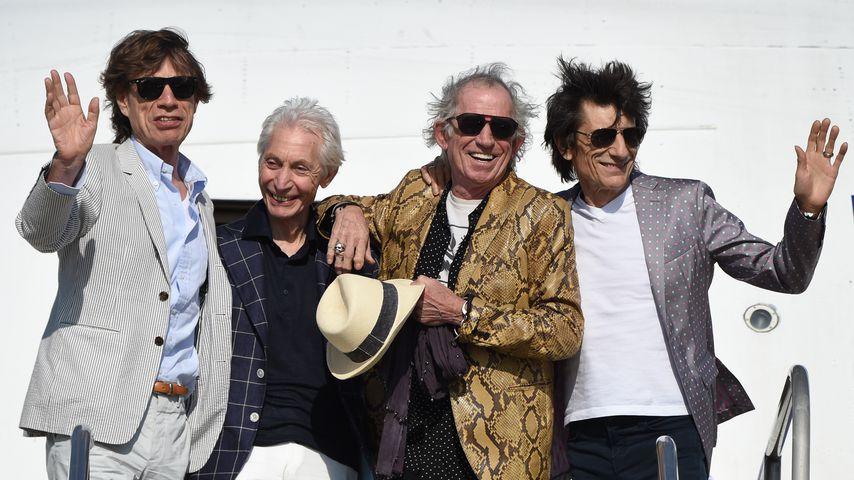 Mick Jagger, Charlie Watts, Keith Richards und Ron Wood im Februar 2016