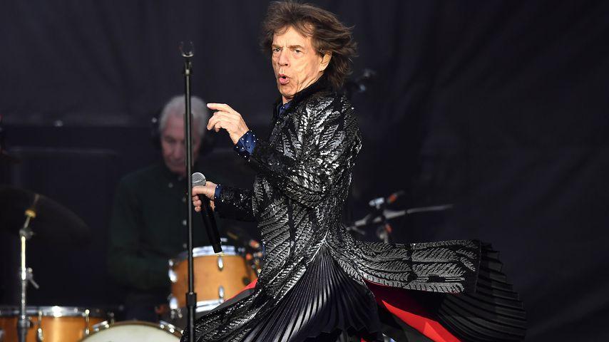 Mick Jagger bei einem Auftritt in Dublin 2018