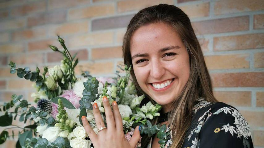 Miguel Oliveiras Verlobte Andreia Pimenta nach dem Heiratsantrag im Jahr 2019