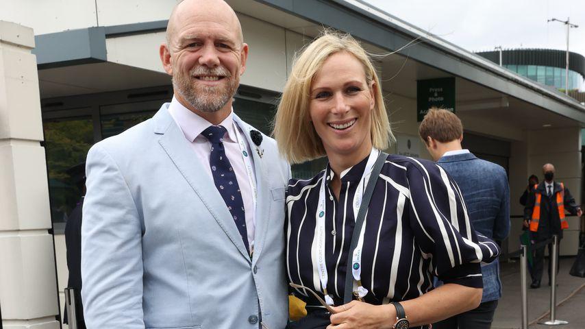 Mike und Zara Tindall im Juli 2021 in Wimbledon