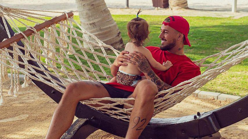 Mike Heiter mit Tochter Aylen