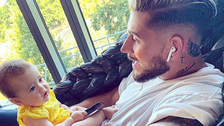 Mike Heiter und Tochter Aylen im Juli 2019