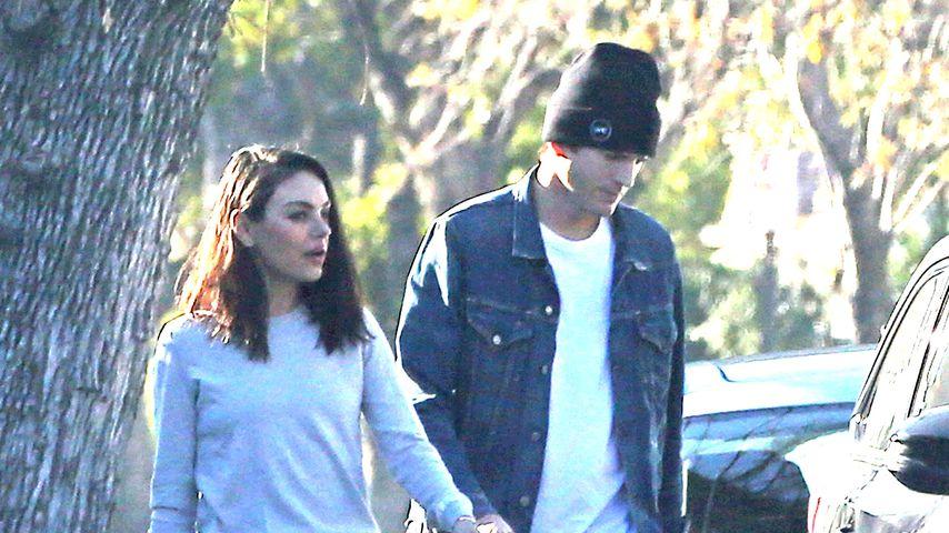 Kaum erkannt: Mila Kunis & Ashton total leger unterwegs!