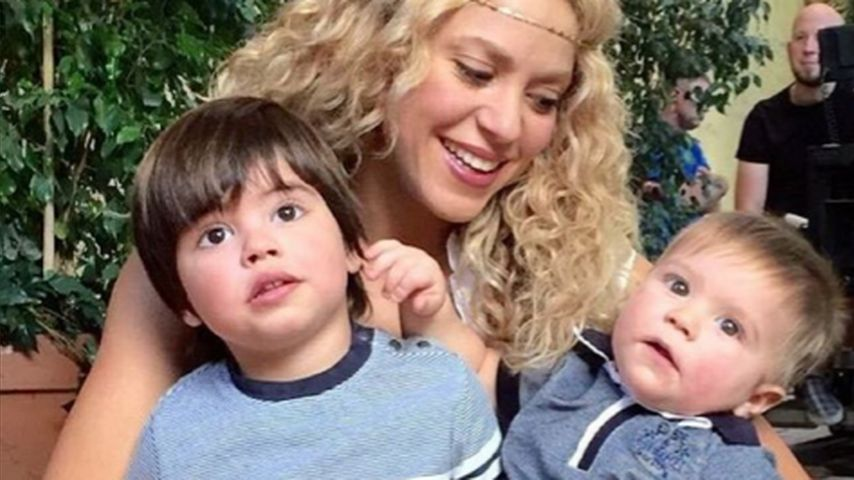 Shakira mit ihren Söhnen Milan und Sasha