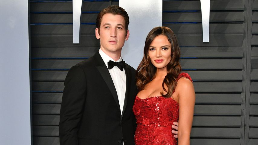 Miles Teller und Keleigh Sperry auf der Vanity Fair Oscar Party 2018