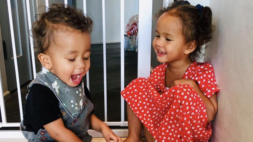 Miles Theodore Stephens und Luna Simone, Kinder von John Legend un Chrissy Teigen