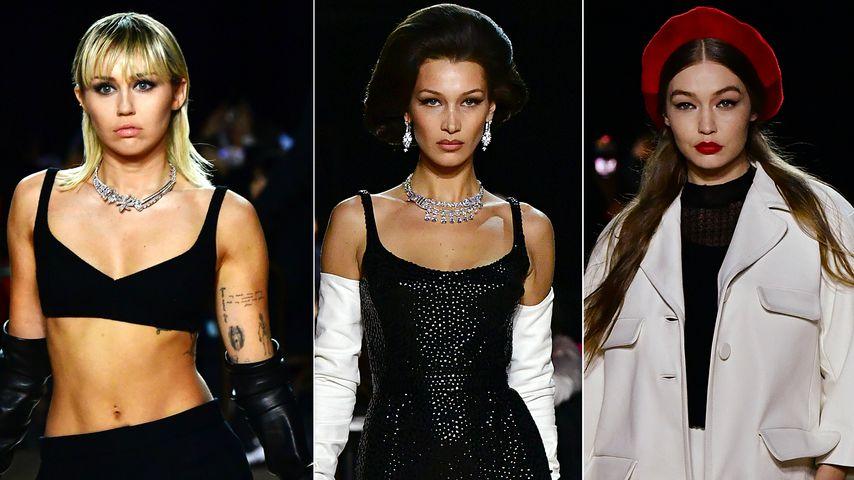 Neu-Model Miley Cyrus rockt den Catwalk mit Hadid-Schwestern