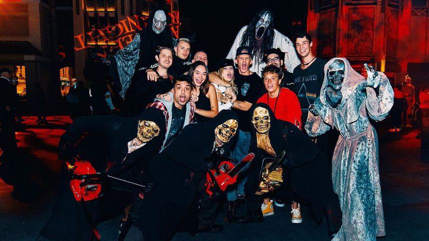 Miley Cyrus und Cody Simpson bei den Universal Studios Halloween Horror Nights, Oktober 2019