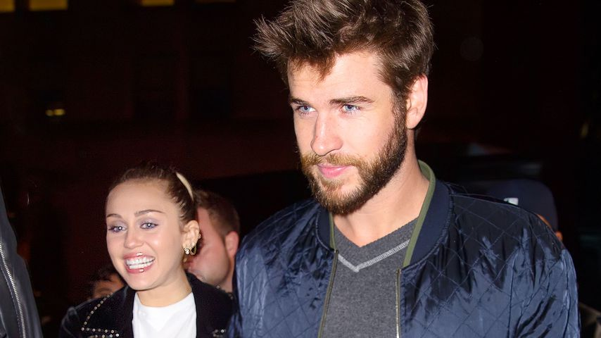 Miley Cyrus und Liam Hemsworth bei einer Party in New York