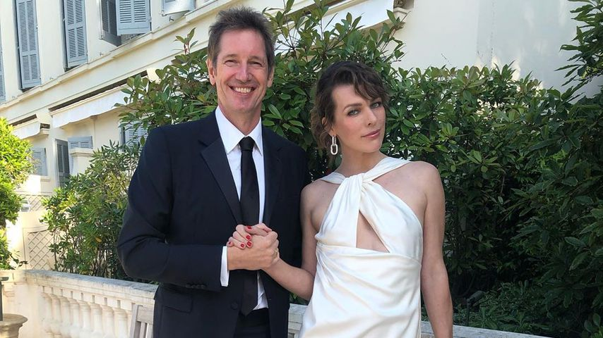 Milla Jovovich mit ihrem Mann Paul W. S. Anderson