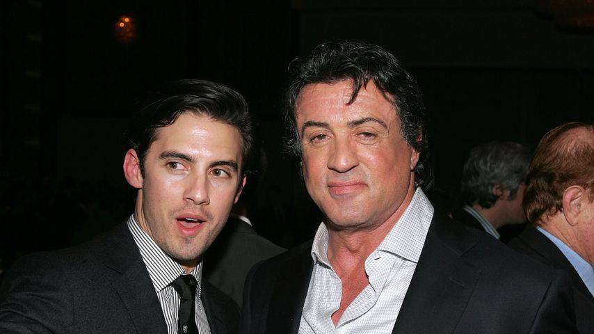 """Milo Ventimiglia und Sylvester Stallone auf der Premiere von """"Rocky Balboa"""""""