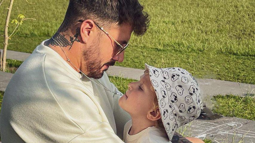 Mischa Mayer und der Sohn von Samantha Abdul