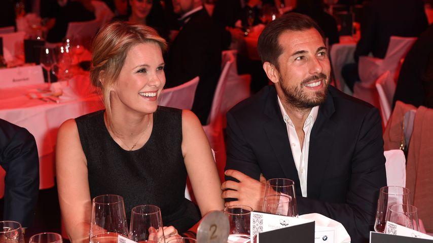 """Monica Ivancan und ihr Ehemann Christian auf der """"Golden Racket""""-Gala"""