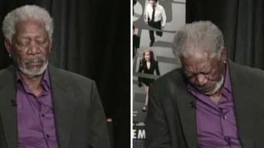 Ups! So döste Morgan Freeman beim TV-Interview weg