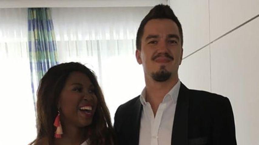 Motsi Mabuse und Evgenij Voznyuk an ihrem Hochzeitstag