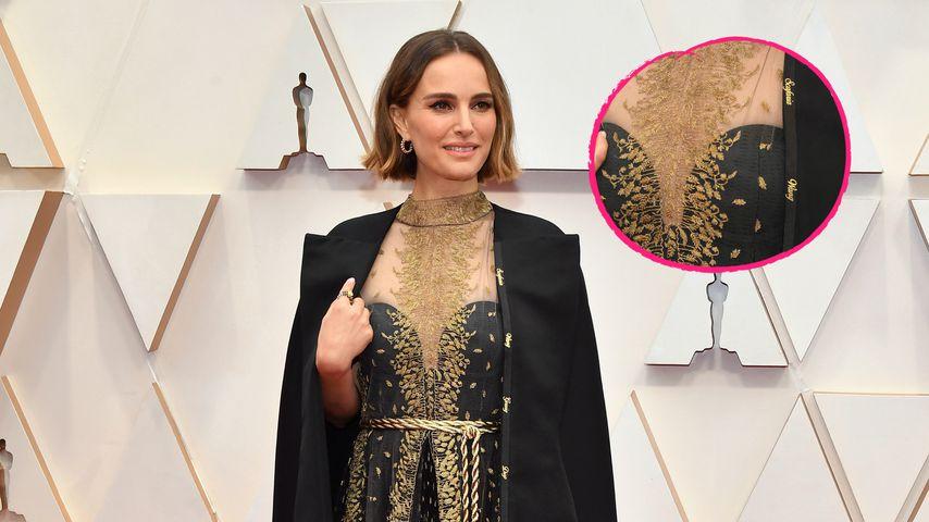 Namen auf Cape: Das steckte hinter Natalie Portmans Outfit