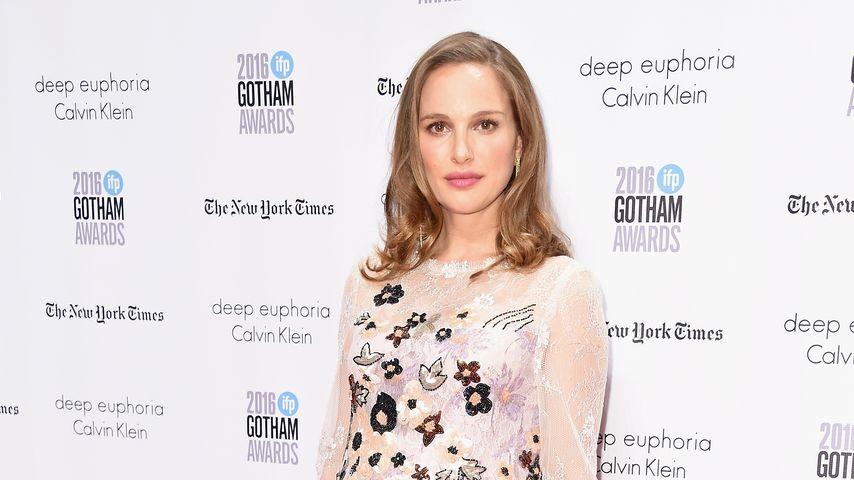Romantik-Style: Natalie Portmans Babykugel blumig schön