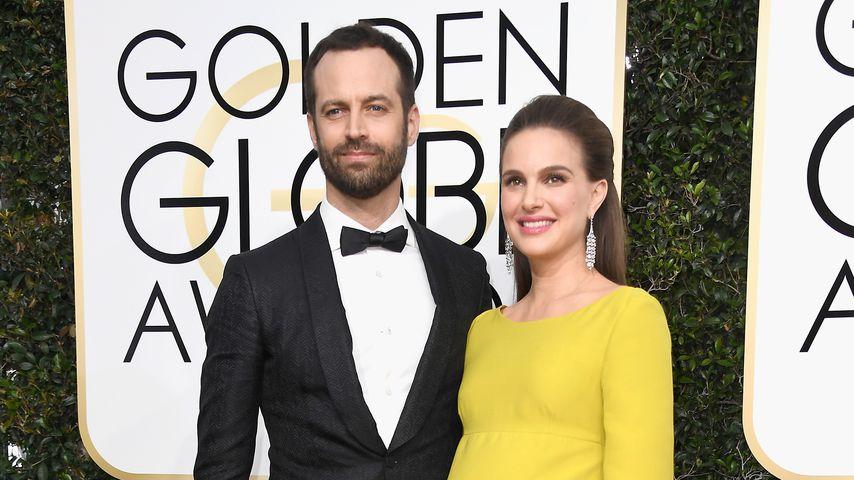 Natalie Portman mit Ehemann Benjamin Millepied bei den 74. Golden Globe-Awards in Los Angeles
