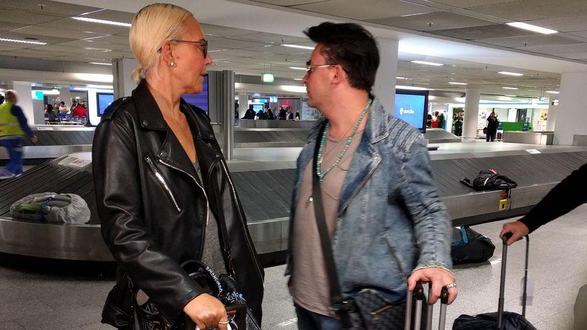 Natascha Ochsenknecht und Matthias Mangiapane, Flughafen Frankfurt 2018