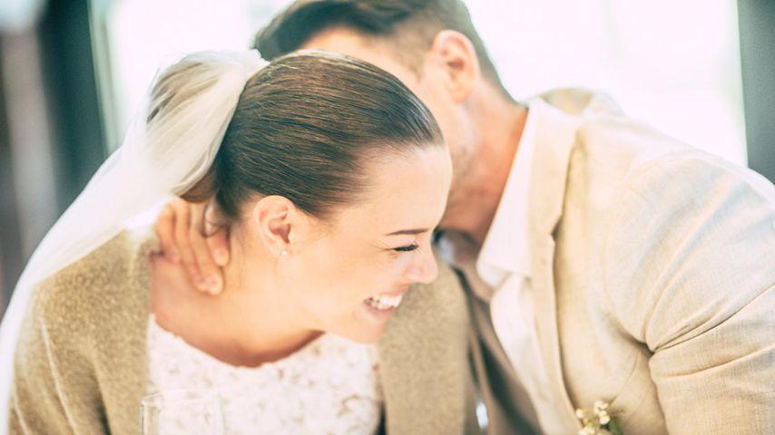 Nathalie und Rocco Stark am Tag ihrer Hochzeit