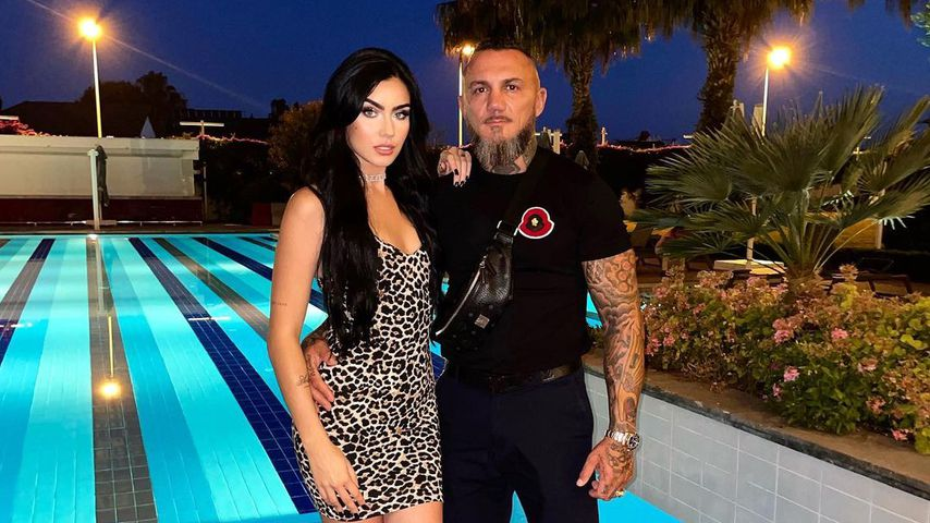 Nathalie Volk mit ihrem Partner Timur